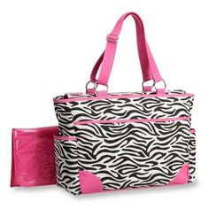 Carter`s Fashion Tote Bag, Zebra Print $30.76 #topseller