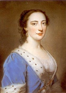 Mary Howard, Duchess of Norfolk (née Blount; c. 1712 – 1773), was the wife of Edward Howard, 9th Duke of Norfolk.  According to the astronomer William Wales, she had asked the explorer Captain James Cook to have an island named after her; he had not heard about the Duchess's death when he discovered Norfolk Island and named it in her honour.