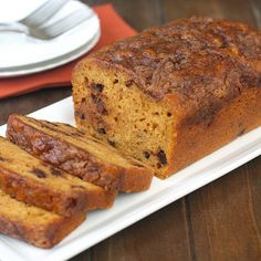 Streusel-Topped Chocolate Chip Pumpkin Bread by Tracey's Culinary Adventures - MADE