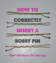 Inserting Bobby Pins