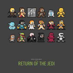 8-Bit Movie Cast Caricatures