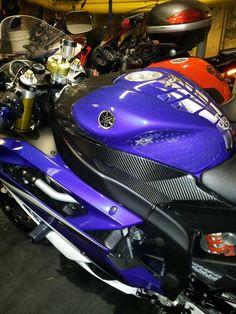 Powder Coat Rims Team Yamaha Blue