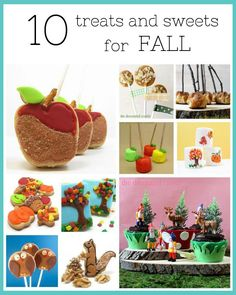 10 treats and sweets decorated for Fall