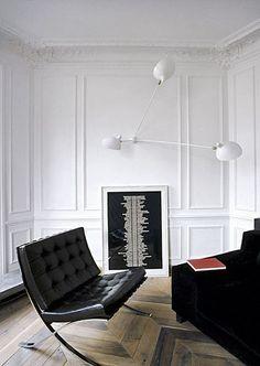White + panelized walls
