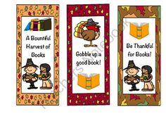 Thanksgiving Bookmarks from Tammy Taecker on TeachersNotebook.com -  (2 pages)  - Want a fun way to celebrate Thanksgiving? Here are some super colorful bookmarks. There are also black and white printables for your students to color and cut out themselves.