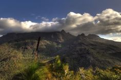 Looking at Mt. Bowen from the top of Nina Peak on Hinchinbrook Island.