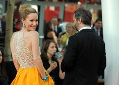 Killer dress.   Leslie Mann in Naeem Khan at the 2012 Emmy Awards...