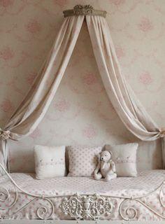 French Romanitc.  Bedspread & Cushions: Agatha Teddy bear: Kitty Curtains: Kitty Wallpaper: Pink Sophia