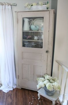 Cabinet with old door