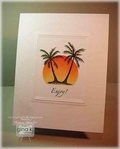 palm tree, idea, craft, inspir palm, sunsets, trees, card, palms, tree tutori