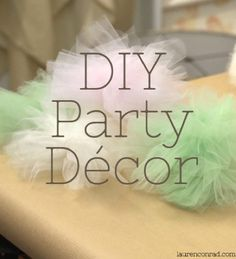 DIY tulle poufs - string for a pretty garland