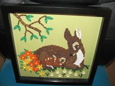 Quilled Bambi and Mother made by Paula Hogue
