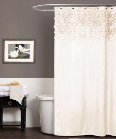 Beige Lillian Shower Curtain