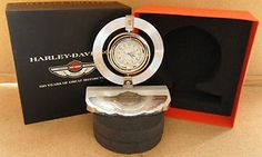 Harley Davidson 100th Anniversary Items | 100th Anniversary Harley Davidson Desk Clock by Bulova NR | eBay