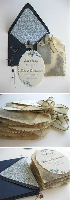 tea party invitations...