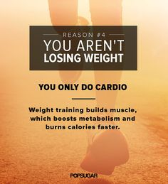 """Why You Shouldn't Only Do Cardio - so many women are afraid of weights. You won't get """"bulky""""... LIFT!!! THAT'S RIGHT!!"""