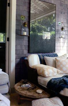 outdoor room | hanging lanterns | shakes | lounge