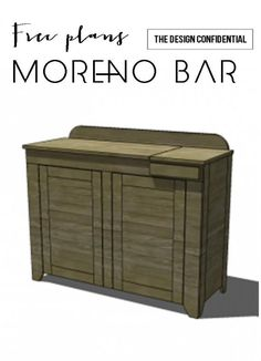 Free Plans to Build a Moreno Bar | The Design Confidential