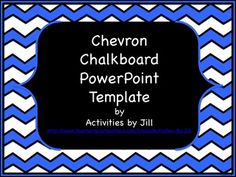 Chevron and chalkboard patterns are hot!  This colorful chevron patterned PowerPoint template with a chalkboard will add zip to your lessons.