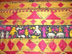 AMAZING BAGH PHULKARI FRAGMENT TEXTILE circa 1900 | WOVENSOULS GALLERY OF TEXTILE ART