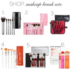 Must Haves: Makeup Brushes via Blonder Ambitions {www.blonderambitions.com}