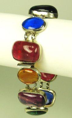 Vintage Hattie Carnegie MultiColored Glass Bracelet by judysgems2, $309.99