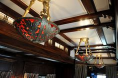 Light Fixture in private Pullman palace railcar