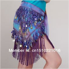 free shipping  HOTTEST !!!!!  in stock BL138 multi colors sequins hanged golden coins long fringe tassels belly dance hip scarf $13.00 danc idea, belly dance, outstand stuff, coin, color sequin, gypsi rag, fring tassel, boho wear, belli danc
