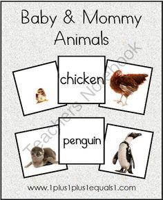Free Printable Mother and Baby Animal match game