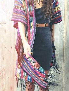 tribal print kimono