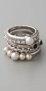 pearl stack rings