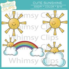 Cute Sunshine Clip Art Freebie