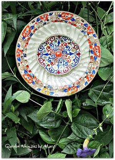 Color Burst Plate Flower Garden Stake  As by GardenWhimsiesByMary, $40.00