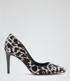 REISS | Ivy Print Animal Print Court Shoes | 100% Cow leather.  Lining: 100% Cow leather (Bostaurus) | Heel height: | £159