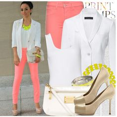 san francisco outfit, color combinations, polyvore, neon yellow