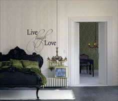 Live Laugh Love Wall Decals - Trading Phrases