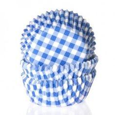 Muffinsforme, papir, blåternede (50 stk.) blåterned 50, 50 stk