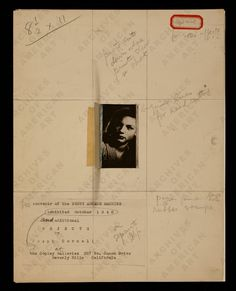 Study for Penny Arcade Portrait with Lauren Bacall, 1945-1946. Joseph Cornell papers.