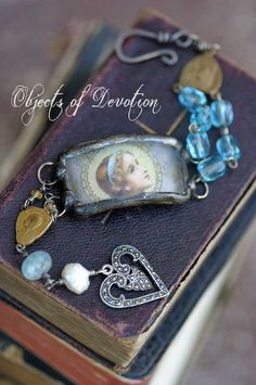 Sweet Mary  Soldered Charm Vintage Rosary by ObjectsOfDevotion, $151.00