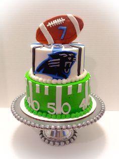 Carolina panthers football cake @gwendolyn @ gg design Parker pleeeeeease?!?