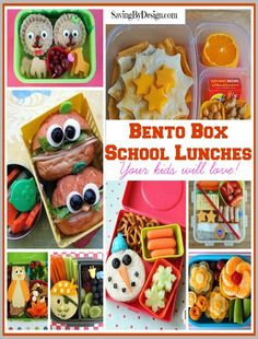 No more lunches that are brought back home or traded...make lunch fun for your kids with these awesome Bento Box school lunch ideas! | SavingByDesign.com