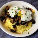 Kasia's Parmesan Polenta with Eggs & Roasted Mushrooms Quick Weeknight Meals Recipe Contest 2009 | The Kitchn