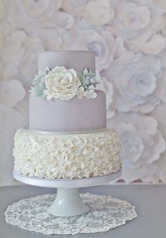 Pretty Dove Grey Tiered Cake