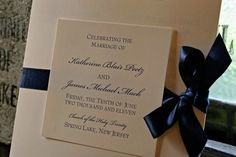 Elegant Square Wedding Programs with ribbon by KnotJustWeddings, $2.50