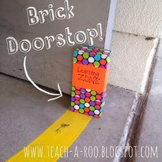 Duct Tape Brick Doorstop. Good kid project.