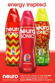 Enter for the chance to win $10,000 and a year's supply of your own neuro SONIC bottle & flavor creation! #ad