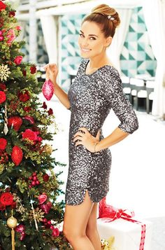 Sequined Dress $80 at Kohl's in November. Add tights.. Christmas dress idea?