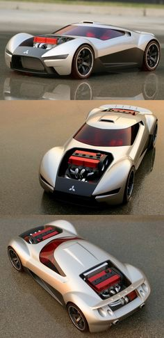 ♂ The Mitsubishi Double Shotz concept was created by Gary Ragle of Mitsubishi Motors Research and Design of America (MRDA) for the Hot Wheels Designer Challenge. Mitsubishi was one of six car manufacturers to display concept vehicles designed exclusively for the iconic toy car maker. original from http://www.diseno-art.com/encyclopedia/concept_cars