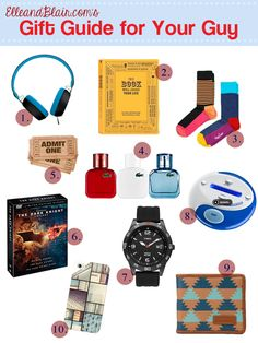 Top 10 gifts to get for your guy! #GiftGuide #Boyfriend #Holidays