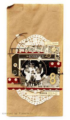"""Paper bag - """"8"""" by finnabair, via Flickr"""